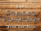 wood flooring scratch removal